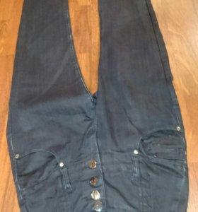 Брюки джинсовые завышенные