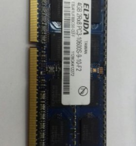 Оперативная память для ноутбука 4gb