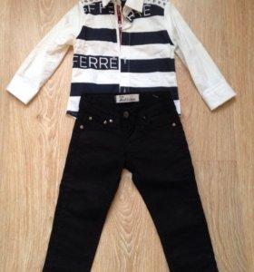 Рубашка и джинсы на мальчика