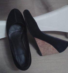 Туфли,  нат.замша, 40р-р