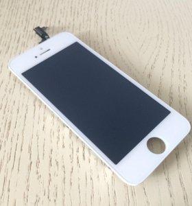 Дисплей для iPhone 5S белый Новый. Гарантия 5 мес.