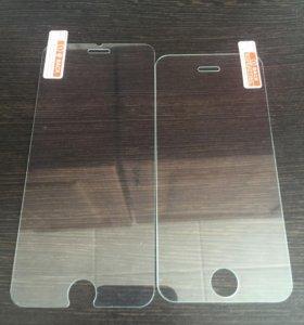 Стекла защитные на iPhone 5,5s 6,6s