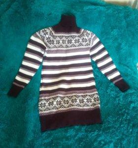 Свитер-платье новый, размер 46-48
