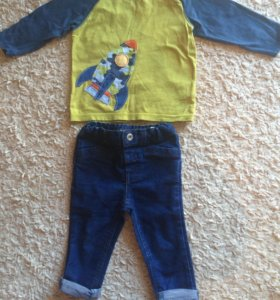 Костюм джинсы на мальчика 74см