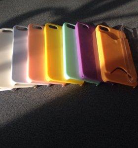 Чехлы однотонный пластик для iPhone 5/5S/SE