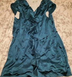 Новое изумрудное  платье