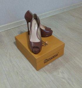 Туфли натуральная кожа лакированные