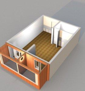 Однокомнатная квартира в строящемся доме