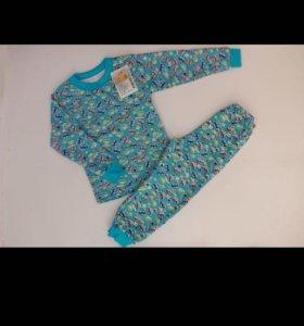 Новые тёплые пижамы р.98