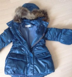 Зимняя куртка-пальто р.116-122 Квартет новое