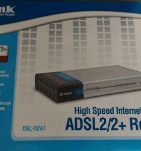 ADSL-роутер D-Link DSL-524T