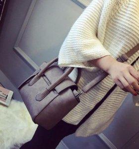 Мягкая коричневатая сумка