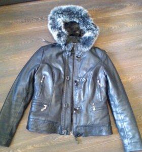 Утепленная куртка, кожзам