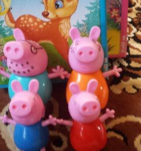 Веселые семейки Пеппы и Барбоскиных