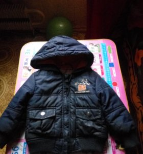 Куртка демисизонная на флисе теплая