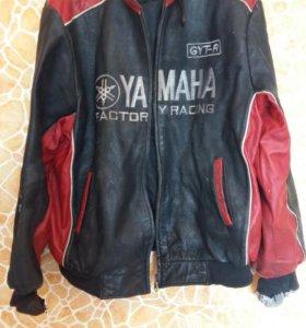 Кожанная куртка yamaha.