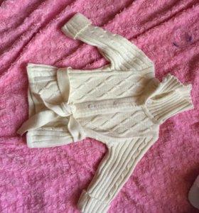 Шерстяная кофта для девочки