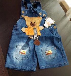 Новый джинсовый комбинезон на 2 годика