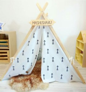 """Детская палатка """"монохромные стрелы"""""""