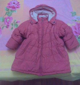 Куртка весна-осень 86-92 размер, шапка в подарок