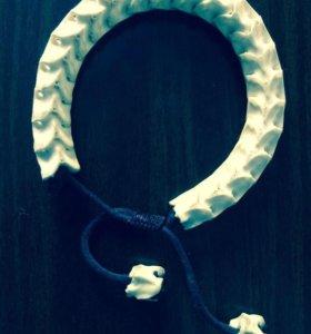 Брутальный браслет из позвонков королевской кобры
