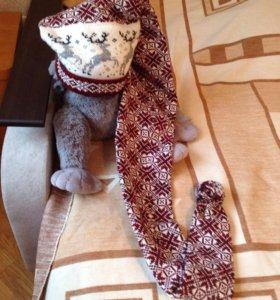 Шапка-шарф ( новая)
