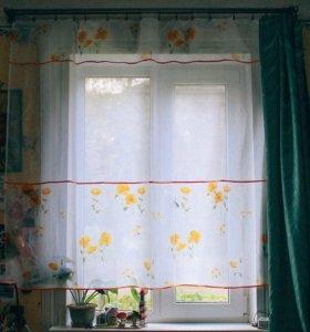 Новая штора вуаль для кухни