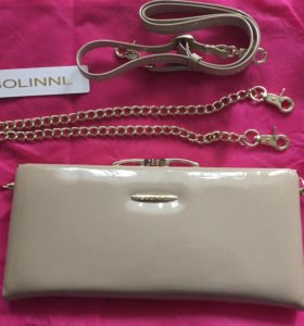 Женская сумка из кожи лакированная Bolinnl