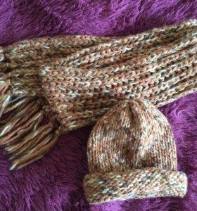 Шапка + шарф ( комплект)