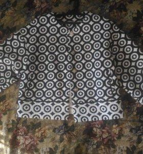 Пиджак черно-белый принт. Размер 48-50
