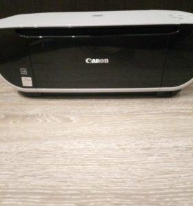 Струйный, Цветной принтер,ксерокс,сканер Canon.