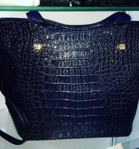 Новая сумка синяя и черная