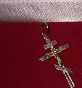 Крестик и кольцо золото