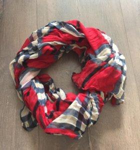 Модный клетчатый шарфик