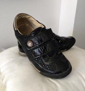 Кожаные кроссовки для девочки, 34рр