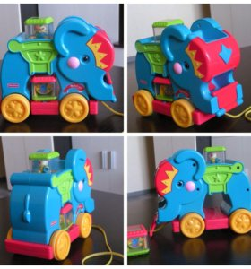 Детская игрушка Fisher-Price слоник с кубиками