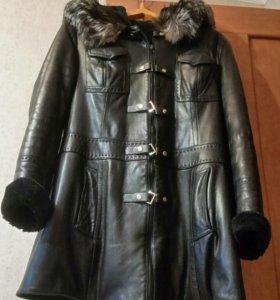 Куртка зимняя натуральная кожа и мех