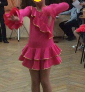 Платье для занятий танцами 120-140рост