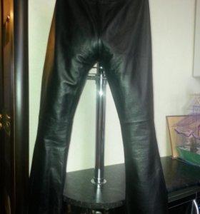 Кожаные брюки женские