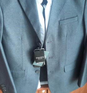 Костюм для мальчика (пиджак+брюки+сорочка+ремень)