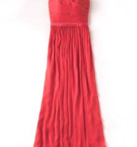Новое вечернее шелковое платье