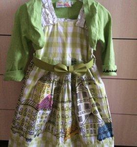 Платье с болеро размер 6( на 5-7 лет)