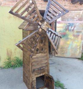 Декоративная мельница для сада и дачи