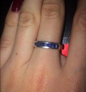 Кольцо серебро,натуральные сапфиры