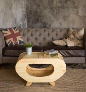 Столик журнальный. Стол деревянный. Эко мебель