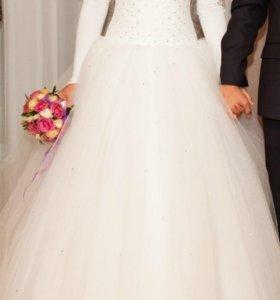 Свадебное платье (42-46)+подарки.