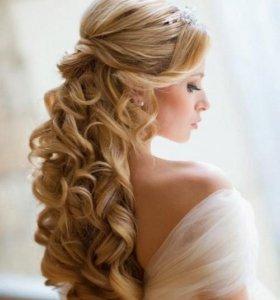 Свадебные и вечерние прически, косы, локоны