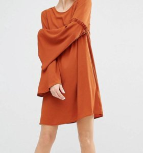 Шёлковое платье Zara