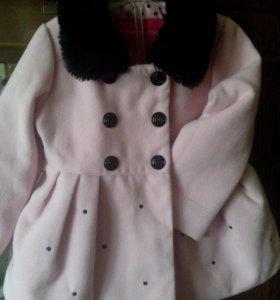 Пальто для девочки, рост 80-86