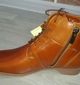 Осенние ботинки новые натуральная кожа